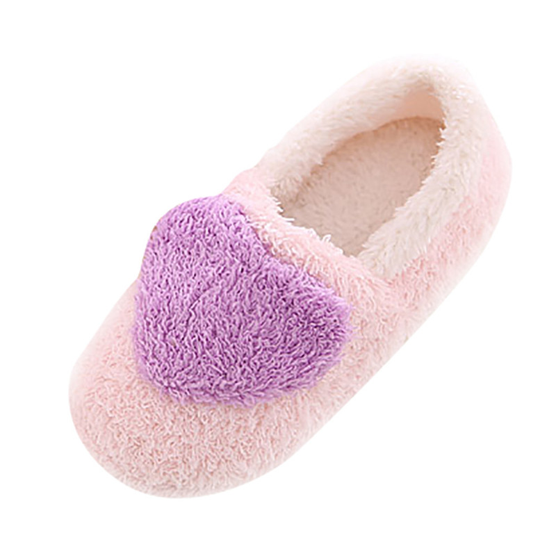 2018 Lovely Womens Girls Winter Soft Warm Plush Shoes Slippers Indoor Home Floor Carpet Floor Slippers Cotton-Padded Shoes #40