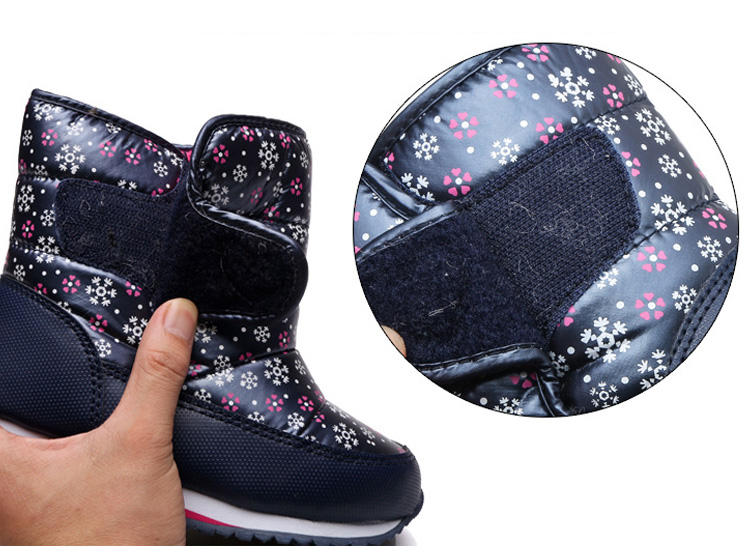 -30 degree Russia Winter Warm Child Snow Boots Shoes Waterproof children's shoes for Kids boots Fashion Baby Girls Boots F332 10