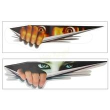 Funny Car Sticker 3D Eyes Peeking Monster sticker Voyeur Car Hoods Trunk Thriller Rear Window Decal #HA10472
