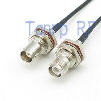 Işıklar ve Aydınlatma'ten Konnektörler'de 6in RP TNC dişi BNC dişi somun bölme RF konektörü adaptörü 15 CM Pigtail koaksiyel bağlantı kablosu RG174 uzatma kablosu