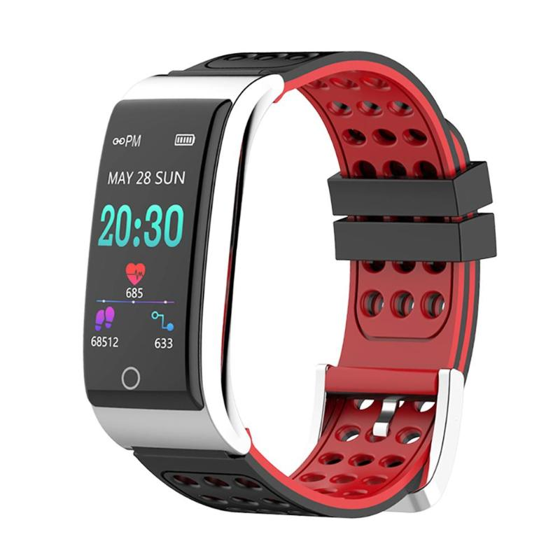 E08 Smart Bracelet Waterproof Fitness Tracker Heart Rate Monitor ECG+PPG Blood Pressure Smart Band Watch For IOS Android Phone