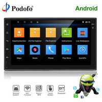 Podofo Car Multimedia player Android Car Radio 2 Din GPS Navigation Universal 2din Stereo Audio Player WIFI For Nissan VW Toyota