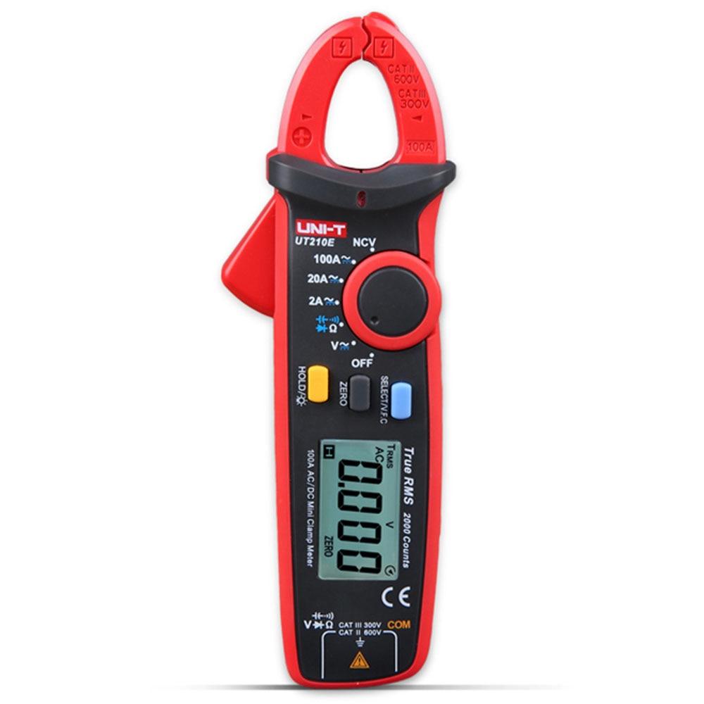 UNI-T UT210D Clamp Shape LCD Digital Multimeter Handhold Test Device uni t ut204a lcd digital clamp multimeter