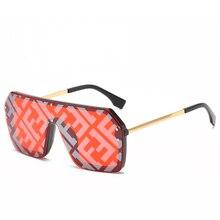 High Quality Unique Square Sunglasses Men and Women Fashion Brand Design Retro Oversized Frame Trend Personality Glasses UV400