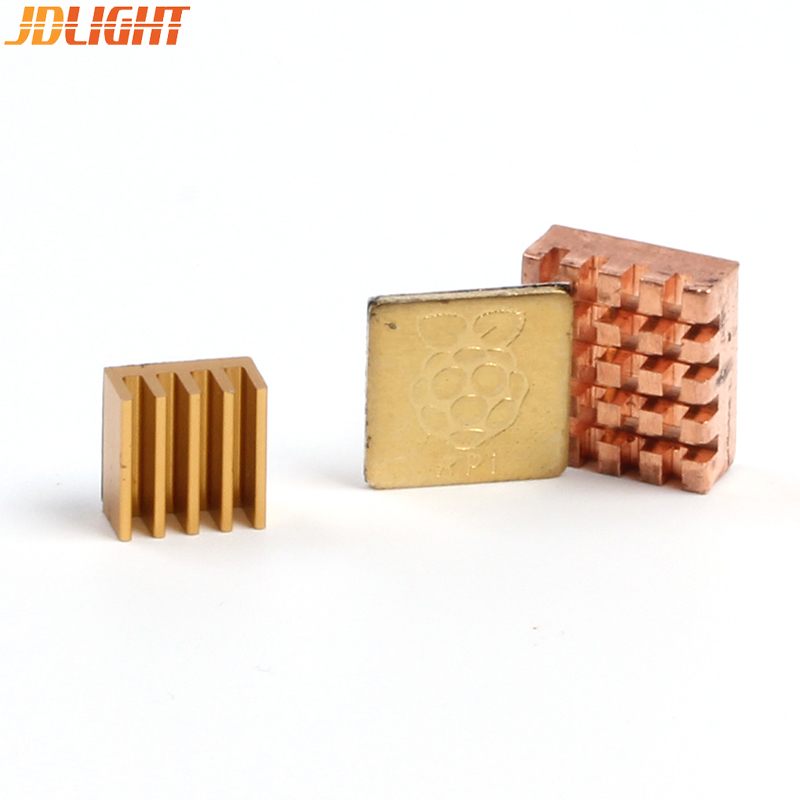 Raspberry Pi 3 HeatSink Copper With Logo / Aluminum Cooling Pad Disipador Chip Heat Sink For Raspberry Pi 3 Model B + Plus /3/2