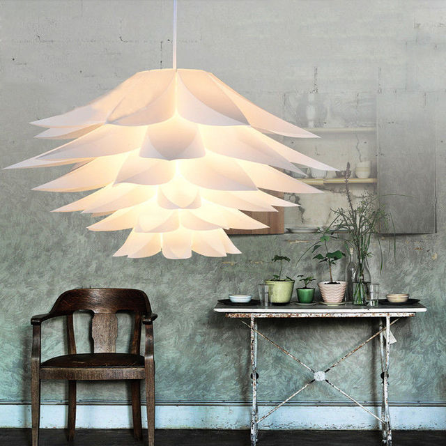 Modern Pendant Lights Lily DIY PVC Lotus Pendant Lamps For Kitchen dinning Room LED hanging lamp light fixtures home lighting