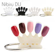 10/20 Pcs False Nail Tips Color Card Crown Shaped Practice Display Tools Acrylic Board DIY Manicure Nature Fake Nails Art Tool 10 pcs practice fake finger model for hand manicure nail art training display