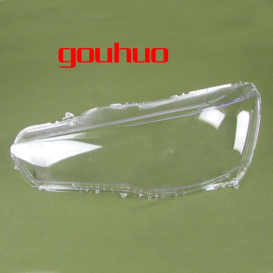 2pcs For Mitsubishi Lancer Ex 10 16 Headlight Transparent Lampshade Shell Headlights Lampshade Headlamp Glass Headlight Lens