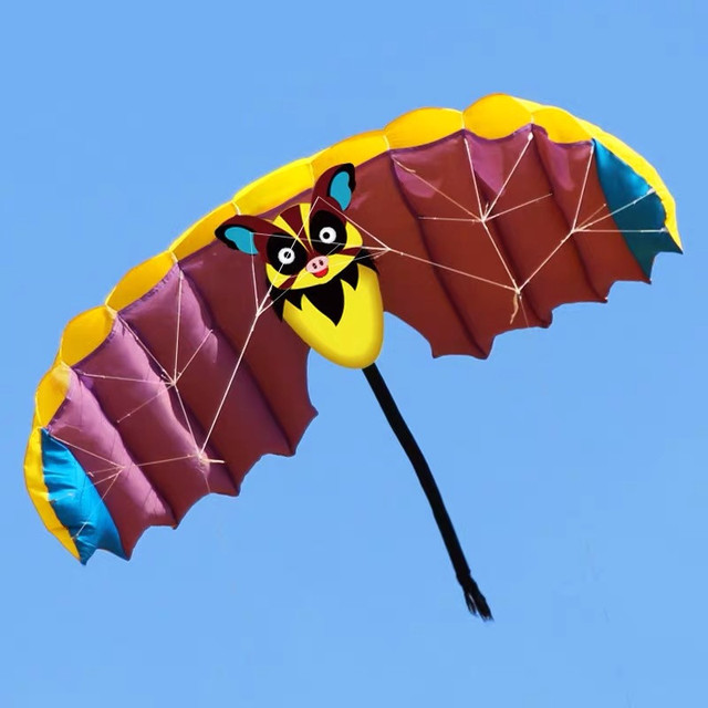 1 4m Soft Bat Design Kites Dual Line Stunt Sport Parafoil Kite With Flying Tool Set