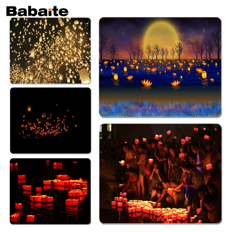 Babaite Put river lights gamer play mats Mousepad Size for 18x22 and 25x29cm Gaming Mousepads