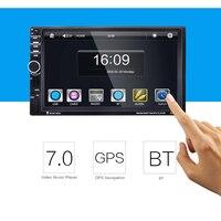 7021G 7 Inch 2 Din Car Video Player MP5 Player BT GPS Navigation FM Radio Steering