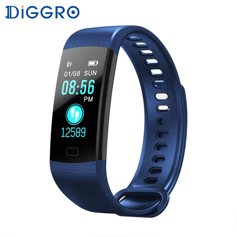 Diggro DB07 Smart Wristbands Fitness Bracelet Wrist Band Tracker IP67 Waterproof Smart Bracelet Heart Rate for IOS Android