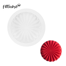 FILBAKE Silicone Cake Mold Wavy Round Shape Mould For Baking Chocolate Cookies Dessert Fondant Decoration Molds Bakeware Tools