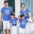 2017 de verão da família roupas combinando filho mãe roupas família olhar da menina e mãe camisetas mãe e filha roupas