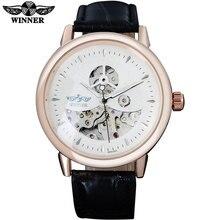 TWINNER моды бренд мужской механические часы кожаный ремешок повседневная горячая мужская автоматическая скелет часы мужской часы reloj hombre