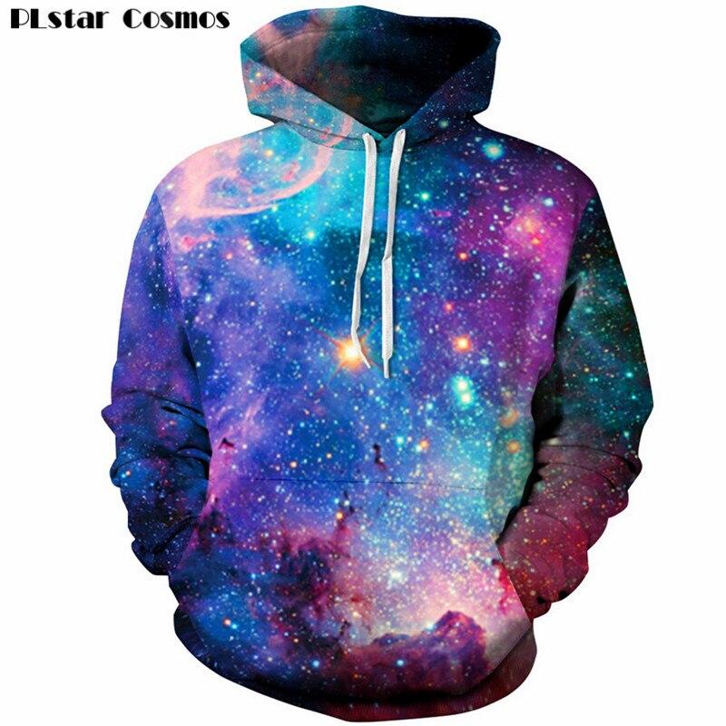 PLstar Cosmos Uomini hoodies 3D Galaxy felpa Unisex Con Cappuccio pullover casual giacca con cappuccio 2018 Nuovo Disegno di modo Dei Vestiti