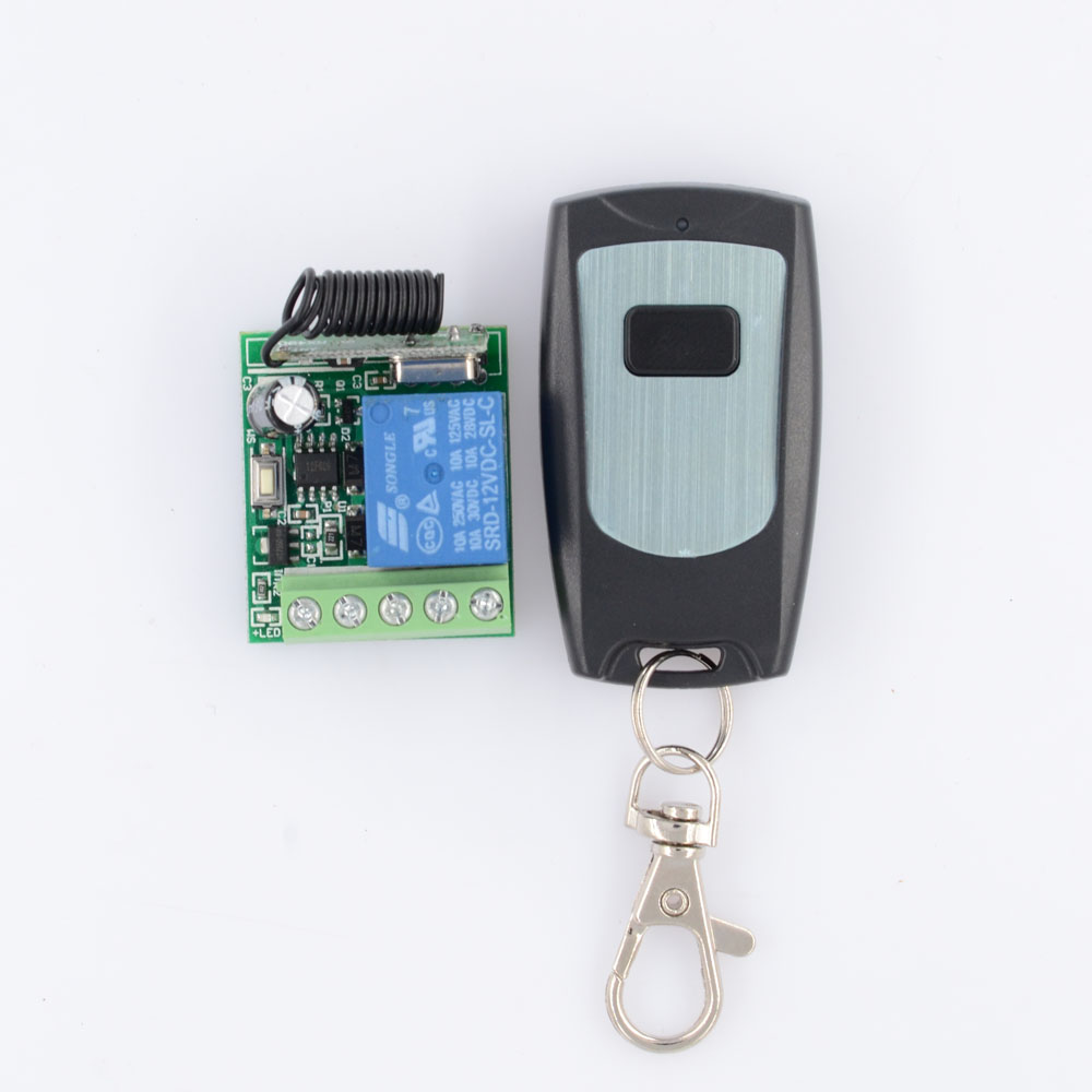 Door Access Openner Button Remote Switch DC 12V 1CH NO COM NC 10A Relay Contact Radio Switches  Time Delay OFF 5S 10S 15SDoor Access Openner Button Remote Switch DC 12V 1CH NO COM NC 10A Relay Contact Radio Switches  Time Delay OFF 5S 10S 15S