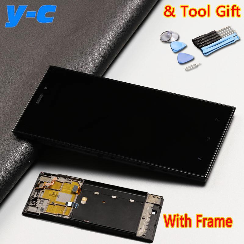 Prix pour Haute Qualité D'affichage + Écran Tactile Avec Cadre Pour Xiaomi mi3 LCD Écran digitizer verre Remplacement pour Xiaomi MI3 Mobile Téléphone