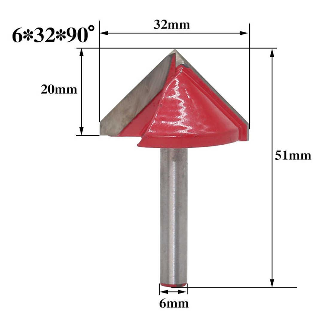 60/90/120/150 度彫刻 V 溝ビット超硬合金 Cnc ルータ彫刻木工ツールフライスカッター機 Acce