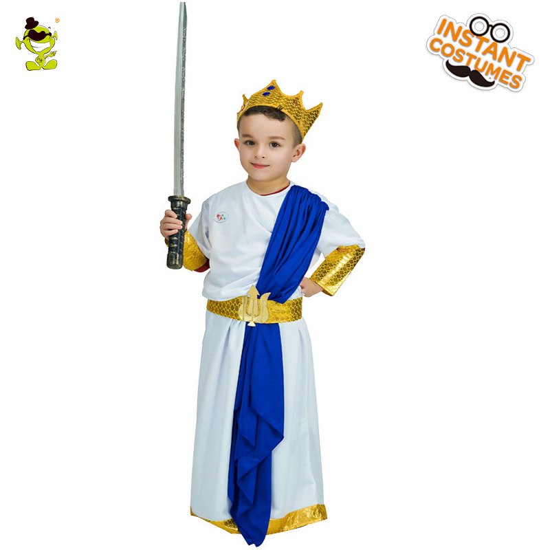 Kids Dominating King Costumes Halloween Carnival Party Deluxe Prince Role Play Outfits Boys Noble Leader Cosplay Fancy Sets