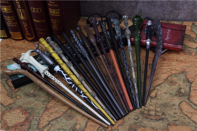 mobokono Top Quality Harry Potter Magic Wand With Gift Box Cosplay Game Prop Collection Series Toy Stick 19 Styles Free Choice