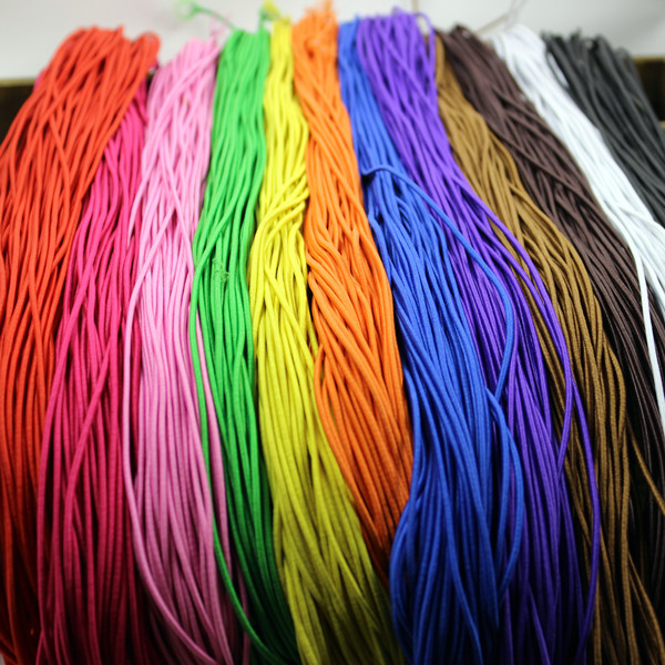 0 8mm 1 2mm Diameter Elastic Stretch Cord Colorful Cotton Wrapped Rubber Beading Cord Stretch String for DIY Jewelry Making in Jewelry Findings Components from Jewelry Accessories