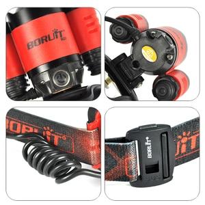 Image 5 - Boruit B22 18650 Rechargeable LED Headlamp Red Light Cree XM L2 Led Zoomble Waterproof Torch Flashlight Headlight USB Charging