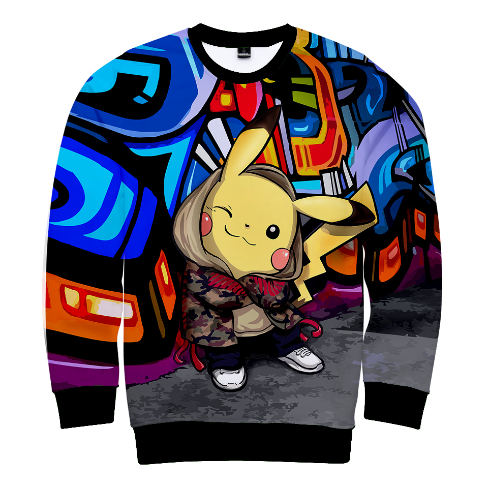 LUCKYFRIDAYF 2018 3D Pikachu Festivals Winter Capless Sweatshirt Men Fashion Funny Sweatshirt Women men Plus Size hot Clothes in Hoodies amp Sweatshirts from Women 39 s Clothing