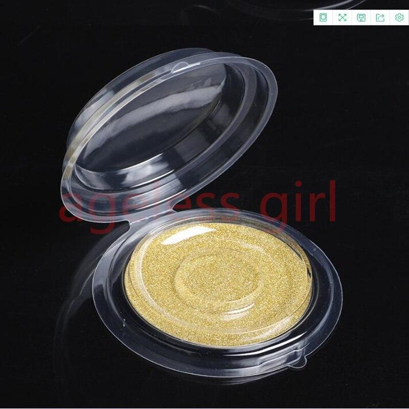 100/set Round False Eyelash Boxes Lashes Packing Boxes Clear False Eyelashes Packing Tray EyeLash DIY Makeup Tools