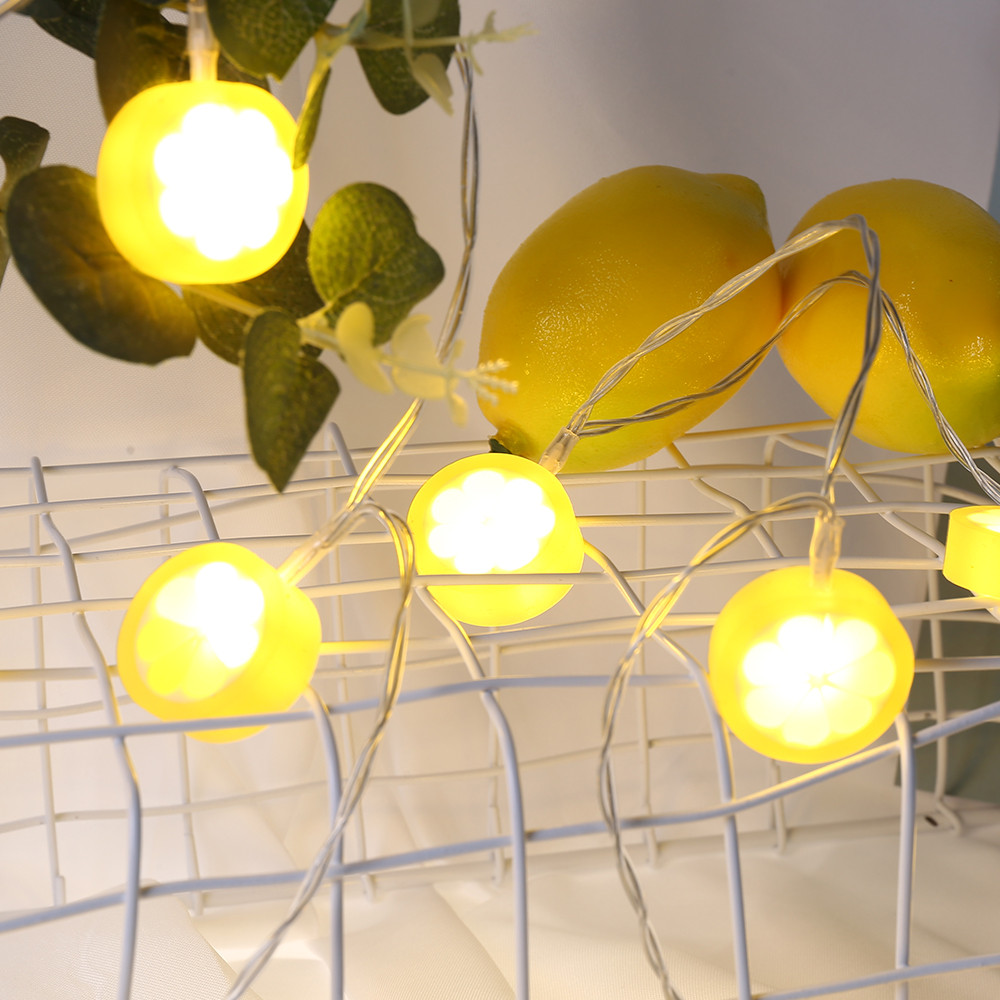 1 5 3m string light christmas lemon lights home party - Decorating with string lights indoors ...