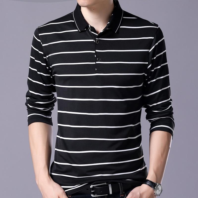 2018 pop marcas camisa pólo listrada de manga longa homens slim fit roupas  streetwear camisas polos mens camisa poloshirt modas 580 e7ba48456cb0d