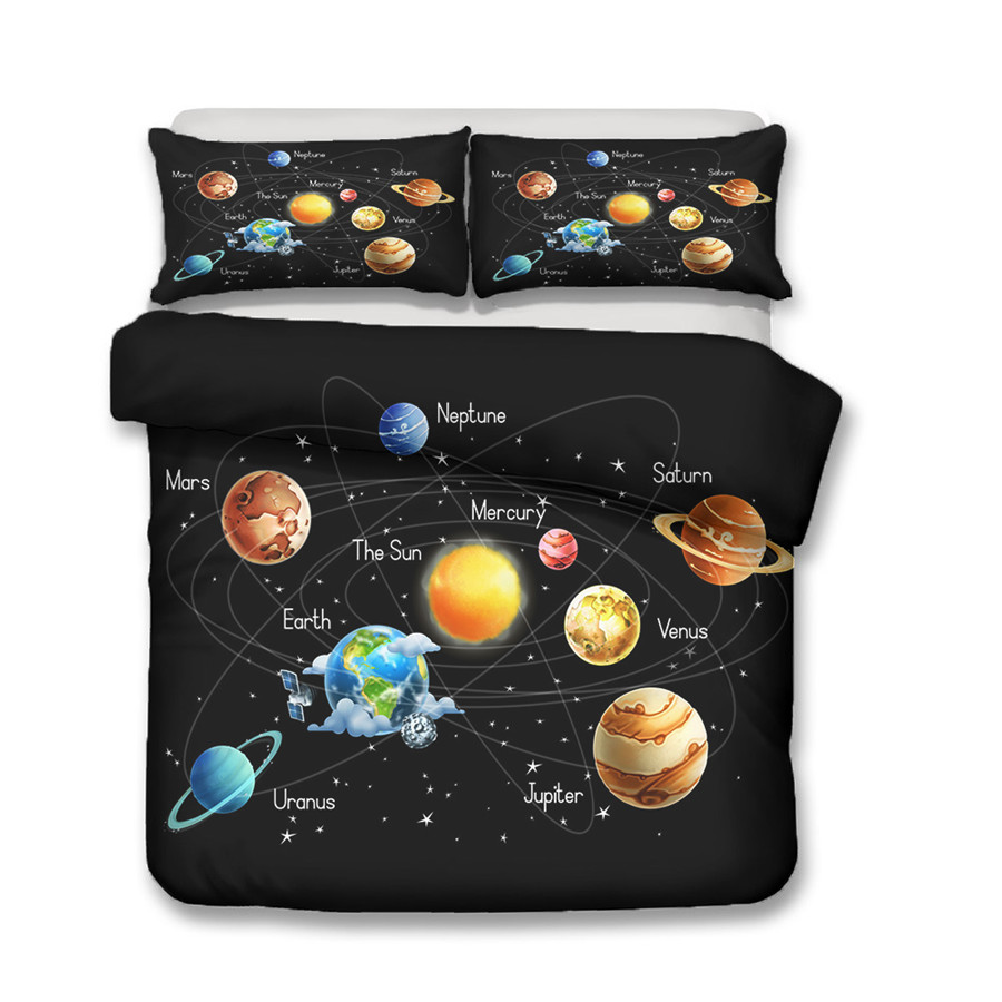 A Bedding Set 3D Printed Duvet Cover Bed Set Space astronaut Home Textiles for Adults Bedclothes with Pillowcase ETTK07 in Bedding Sets from Home Garden