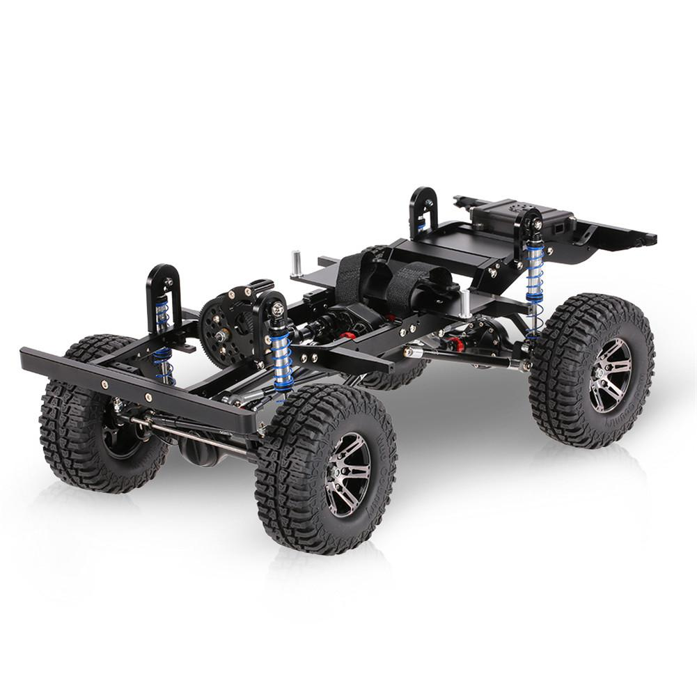 RCtown Frame Do Carro Do RC Simulação Carro Crawler D90 275 Distância Entre Eixos CNC Metal Frame