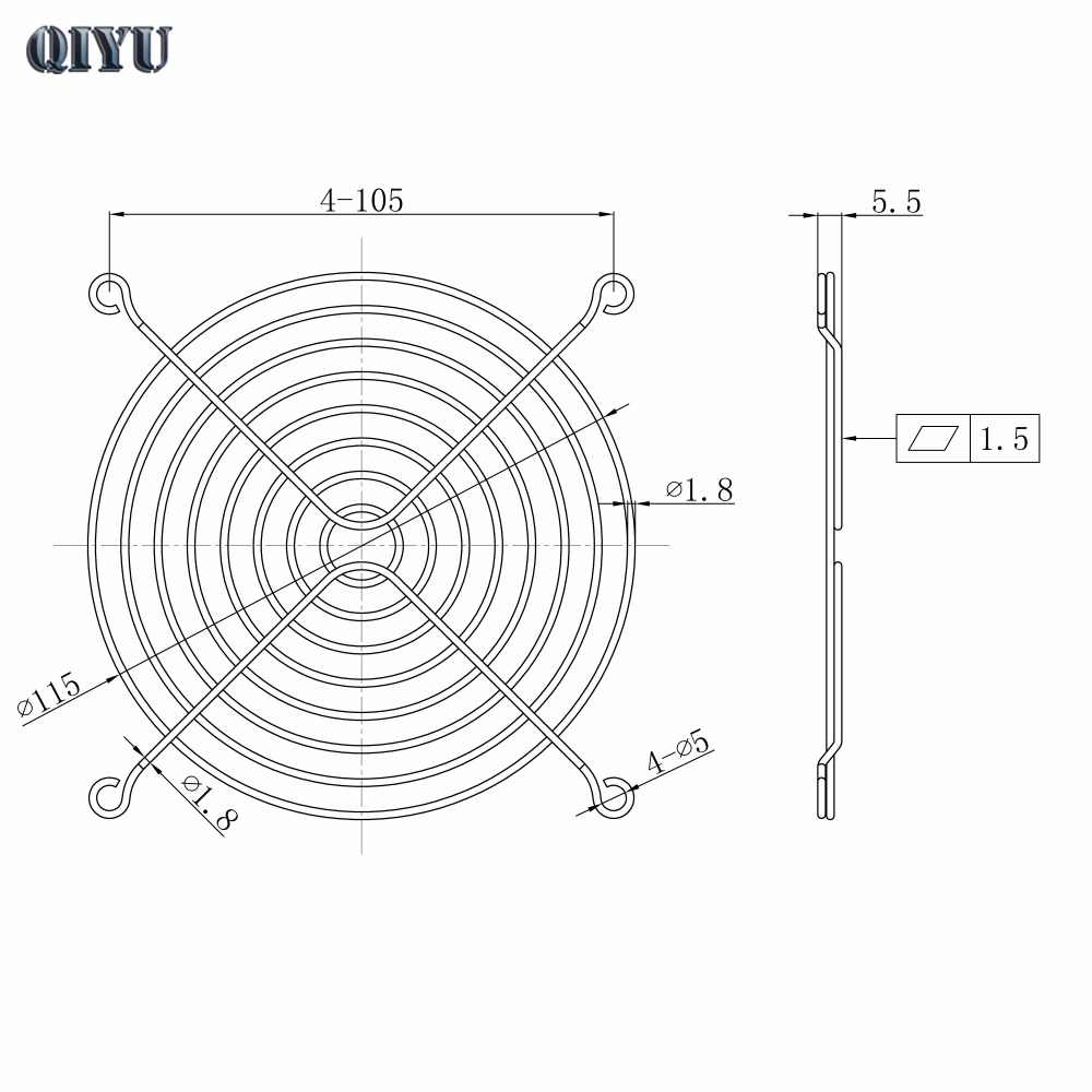 12cm industrial axial fan net 12038 fan grill 12025 fan guard ventilation equipment  [ 1000 x 1000 Pixel ]