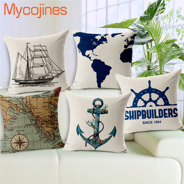 Nautical Decorative Pillow Covers