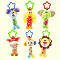 0M+ Soft Baby Mobile stroller hanging toys Cartoon Animal Rattle Musical Toy Gift Monkey Dog Lion brinquedos juguetes