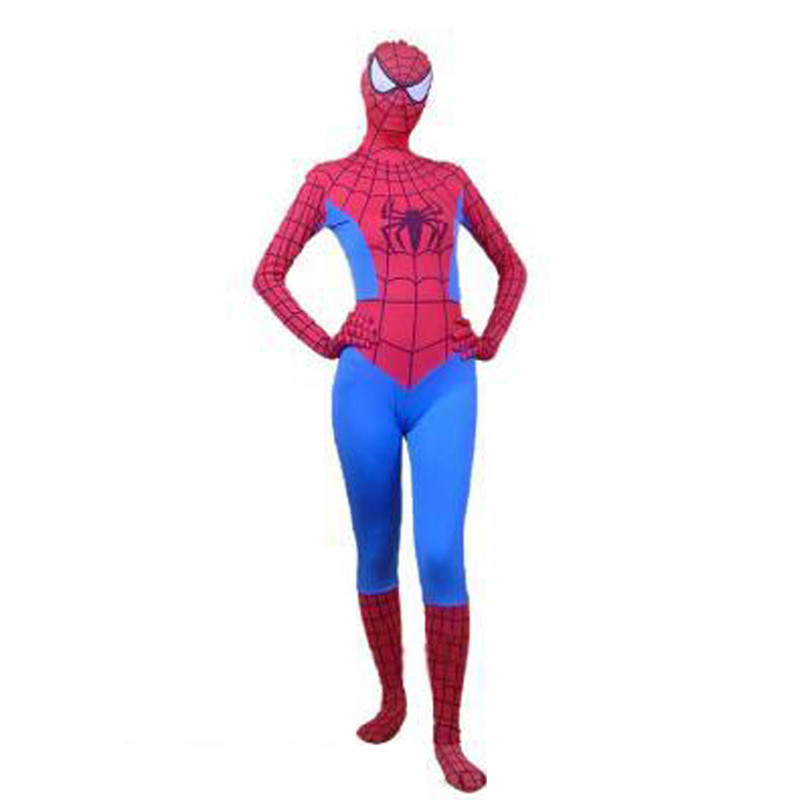 Us 36 98 40 Off High Quality Girls Women S Adult Halloween Spiderman Cosplay Costumes Women Zentail Lycra Spandex Party Superhero Female Costume In
