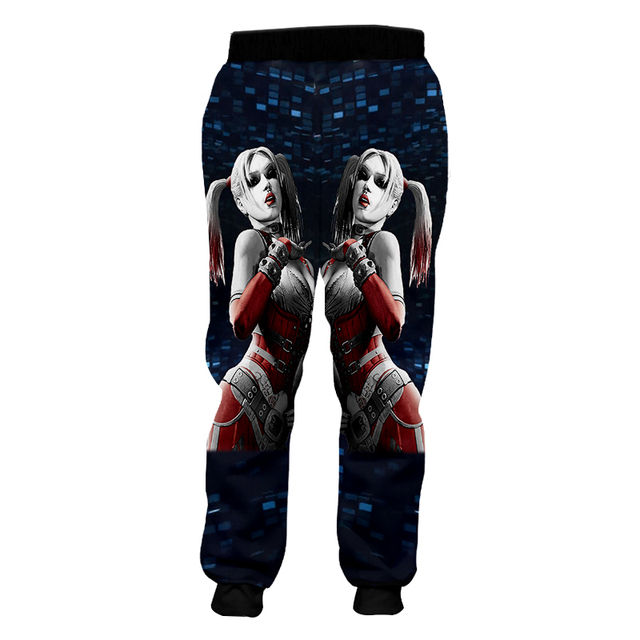 OGKB Homme Loose GYMS 3D Harem Pants Printed American Flag Eagle Casual Large Size Habiliment For Men Spring Sweatpants 3