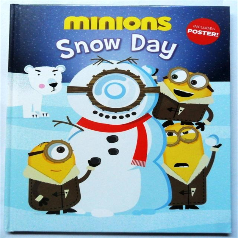 Minions snow day Learning & Education books For kids baby English Picture Book for Children Free shipping вега вега п 1 9815 7 64