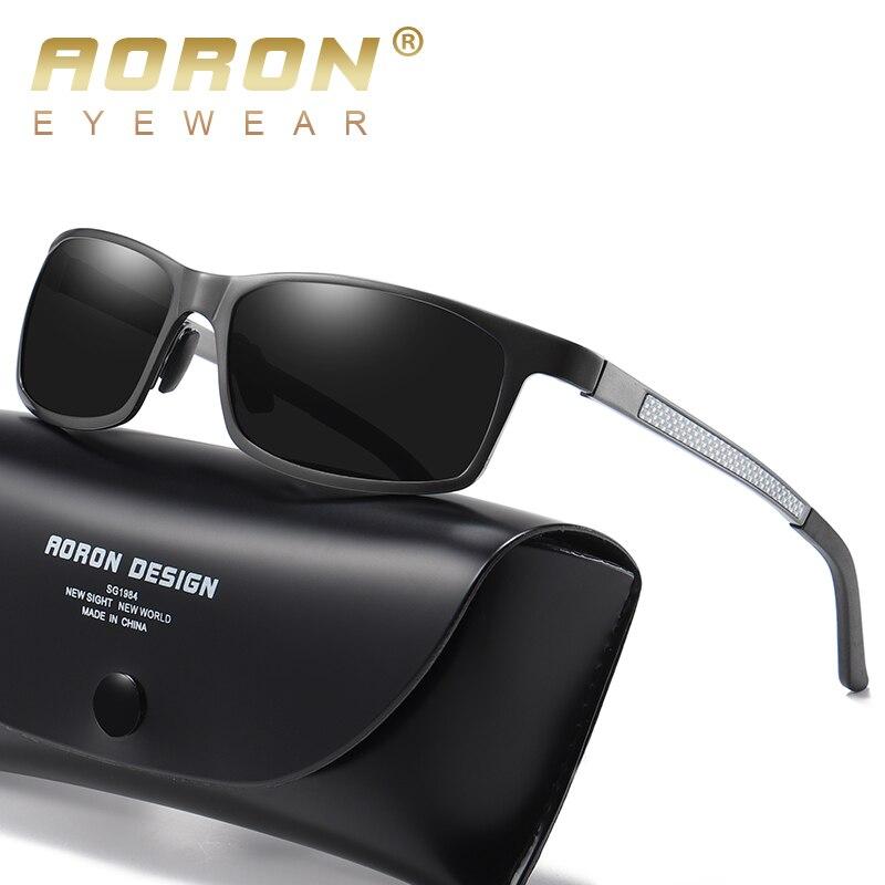 34f9e66c27 Aoron hombre gafas de sol polarizadas de deportes al aire libre gafas de sol  lente Rectangular gafas de sol para conducir UV400