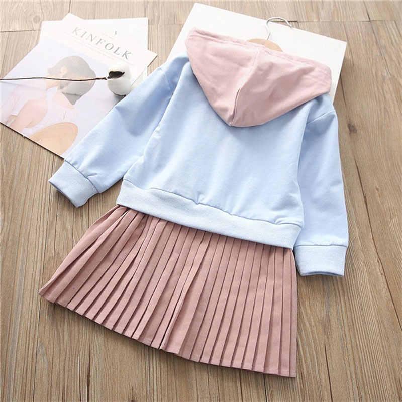 Весна осень для малышей и подростков детская одежда для девочек повседневная спортивная толстовка Свитеры для женщин Платья для женщин для детей Одежда и аксессуары для девочек платье в Корейском стиле