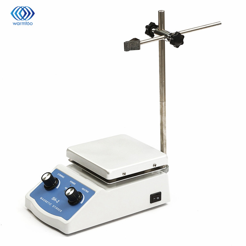 Magnetic Blender Hot Plate Stirrer Dual Control Machine Stir +1 inch Stir Bar C3 Liquid Mixing 220V SH-2/50Hz sh 2 50hz magnetic blender hot plate stirrer dual control machine stir 1 inch stir bar c3 liquid mixing 220v