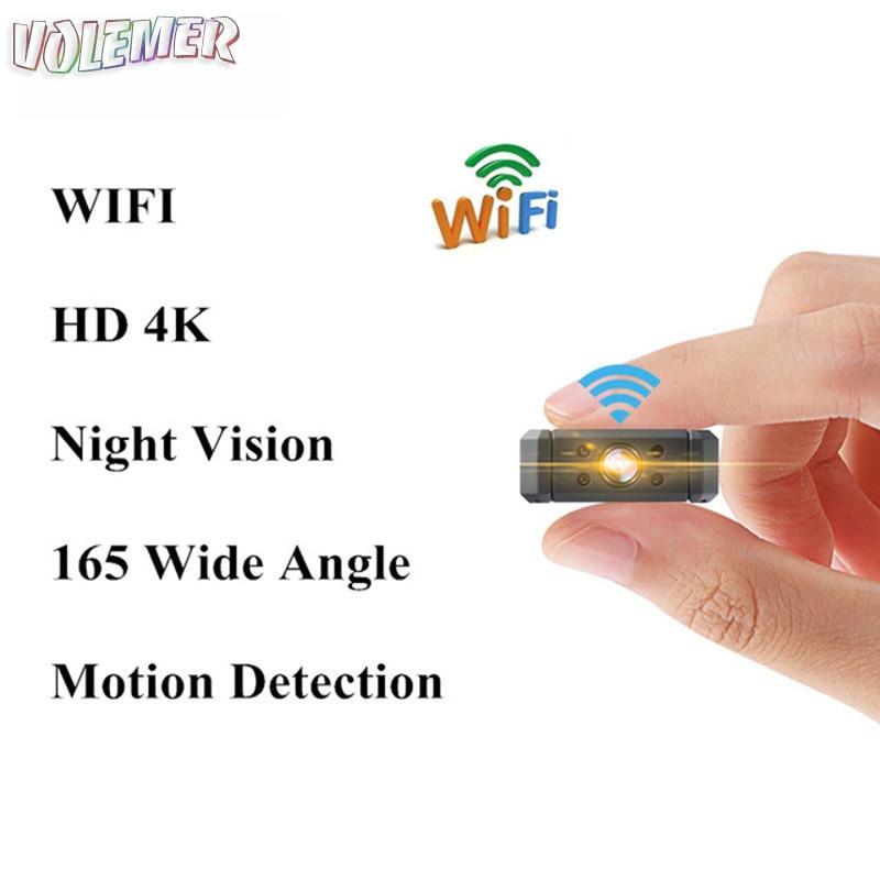 Volemer MD90 wifi micro camera mini P2P cam IP camcorder Infrared Night Vision Motion Detection wide angle DV Mini 4K HD Camera цены