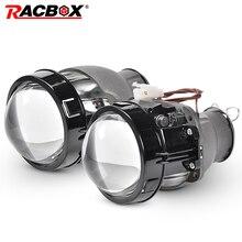 RACBOX 2Pcs 3 inch Round Style Q5 Koito Projectore Len HID Bi-xenon LHD RHD for Retrofit H7 Headlight D2S D4S D1S D3S Bulb