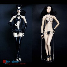 HotPlus 1/6 Cool Leather Catwoman Suit HP016 SM Chain Lingerie HP017 For Collectable Female Action Figure Phicen Doll Body