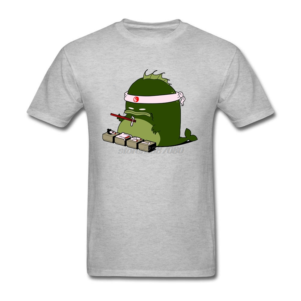 Shirts human design - Oversize Style Human Sushi Short Sleeved Shirt For Man Printed Tee 100 Cotton For Man