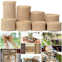 2Yard/roll Natural Jute Burlap Ribbon for Crafts DIY Hemp Lace Material Wedding Party Decorative Christmas Gift Wrapping