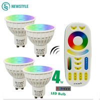 4W Mi Light LED Bulb Lamp Light Dimmable GU10 220V 85 265V RGB CCT Spotlight Indoor
