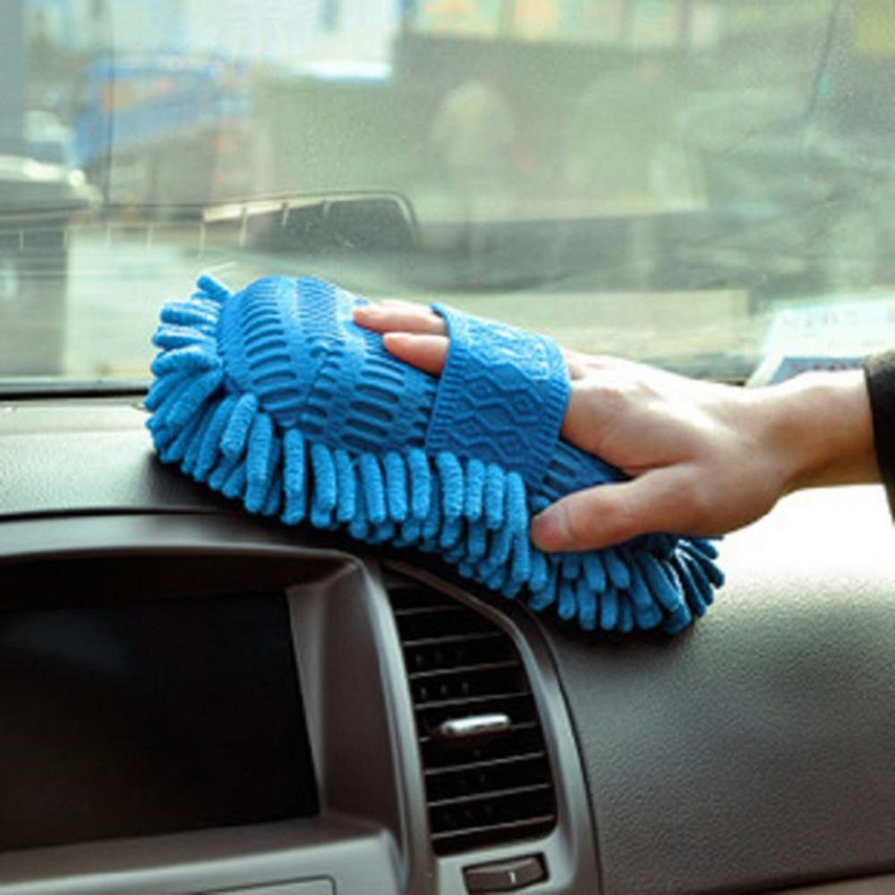 Hot Hot Microfiber Chenille Car Cleaning Sponge Towel Cloth Auto Wash Gloves Car Washer Supplies Home Cleaning Tower Hot