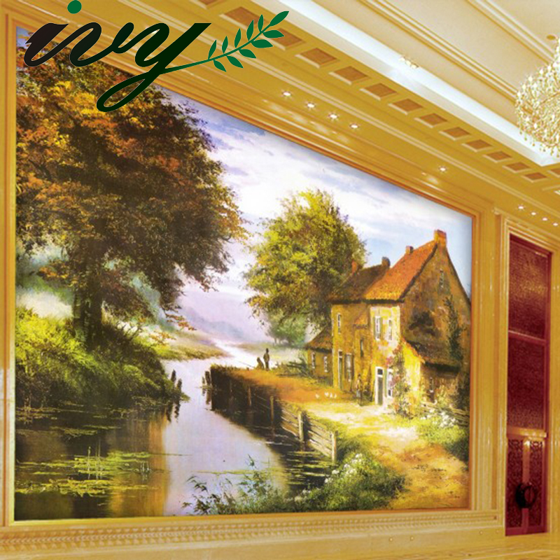 Customized 3D Wallpaper of Walls Panting Murals Luxury Yellow Maple Natural Scenery Mural Wall Paper papel de parede para quarto 015 top fashion papel de parede para sala wall style elephant with collapsing design 3d wallpaper mural can be customized paper